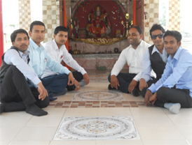 sir with me and my brother shiv seating inside the temple park